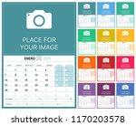 spanish planning calendar for... | Shutterstock .eps vector #1170203578