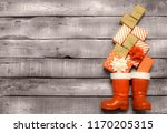 christmas background   red and... | Shutterstock . vector #1170205315