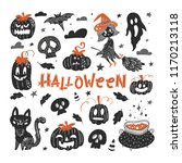 vector halloween  hand drawn... | Shutterstock .eps vector #1170213118