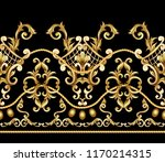 border with golden baroque... | Shutterstock .eps vector #1170214315