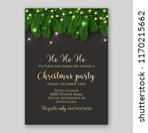 christmas party invitation... | Shutterstock .eps vector #1170215662