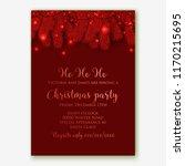 christmas party invitation... | Shutterstock .eps vector #1170215695