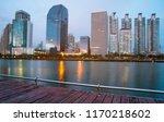 landscape night city skyline in ...   Shutterstock . vector #1170218602