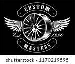 vintage emblem of car disk with ... | Shutterstock .eps vector #1170219595