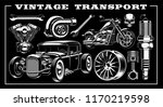 design set of vintage... | Shutterstock .eps vector #1170219598