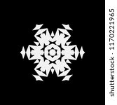 simple snowflake icon  vector... | Shutterstock .eps vector #1170221965