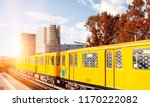 berlin yellow subway  u bahn  ... | Shutterstock . vector #1170222082