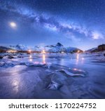 Milky Way Above Frozen Sea...