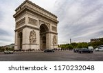 view of the arc de triomphe... | Shutterstock . vector #1170232048