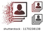 user accounts icon in fractured ... | Shutterstock .eps vector #1170238138