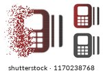 card reader icon in fractured ... | Shutterstock .eps vector #1170238768