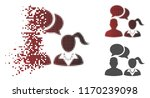 dating chat icon in sparkle ... | Shutterstock .eps vector #1170239098