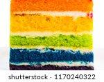 layer of rainbow cake | Shutterstock . vector #1170240322