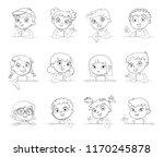 cartoon collection of little... | Shutterstock .eps vector #1170245878