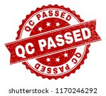 qc passed seal print with... | Shutterstock .eps vector #1170246292