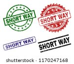 short way seal prints with... | Shutterstock .eps vector #1170247168