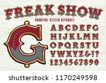 vector font in the style of a... | Shutterstock .eps vector #1170249598