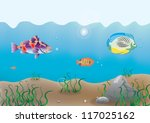 illustration of the ocean... | Shutterstock . vector #117025162