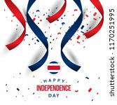 happy costa rica independence... | Shutterstock .eps vector #1170251995