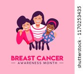 breast cancer awareness month... | Shutterstock .eps vector #1170253435