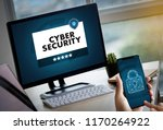 cyber security business ... | Shutterstock . vector #1170264922