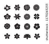 flower icons set on white... | Shutterstock .eps vector #1170265255