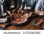 close up of people hands taking ... | Shutterstock . vector #1170265282