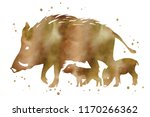 new year card material  wild...   Shutterstock . vector #1170266362