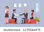 business people working in... | Shutterstock .eps vector #1170266575