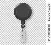 vector realistic 3d black round ... | Shutterstock .eps vector #1170271108