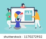 characters of people analyzing... | Shutterstock .eps vector #1170272932