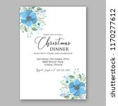 poinsettia christmas party...   Shutterstock .eps vector #1170277612
