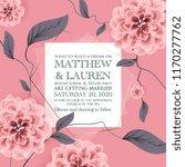 botanical wedding invitation... | Shutterstock .eps vector #1170277762