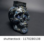 skull decorated with colorful... | Shutterstock . vector #1170280138