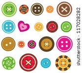 Set Of Various Sewing Buttons...