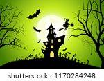 halloween background with... | Shutterstock .eps vector #1170284248