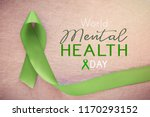 lime greenribbon  world mental... | Shutterstock . vector #1170293152