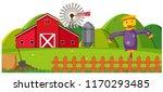 a rural farmland landscape... | Shutterstock .eps vector #1170293485