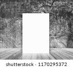 blank poster in loft wall and... | Shutterstock . vector #1170295372