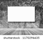 mockup poster banner hanging on ...   Shutterstock . vector #1170296635