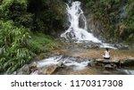 asian yoga  woman meditation... | Shutterstock . vector #1170317308