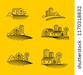 farming fields line icons vector   Shutterstock .eps vector #1170318832