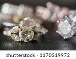 jewelry diamond rings set on... | Shutterstock . vector #1170319972