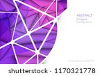 vector 3d geometric  polygon ... | Shutterstock .eps vector #1170321778