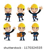 set of engineer  worker | Shutterstock .eps vector #1170324535