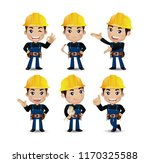 set of engineer  worker | Shutterstock .eps vector #1170325588