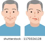 senior citizen of facial nerve... | Shutterstock .eps vector #1170326128