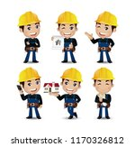 set of engineer  worker | Shutterstock .eps vector #1170326812