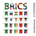 brics . association of 5... | Shutterstock .eps vector #1170332008