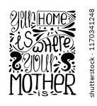 isolated monochrome hand drawn... | Shutterstock .eps vector #1170341248